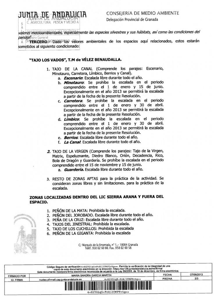 Regulacin Escalada en los Vados 05-06-2013